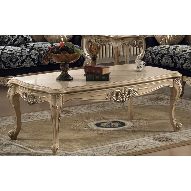 03 Antique White Coffee Table