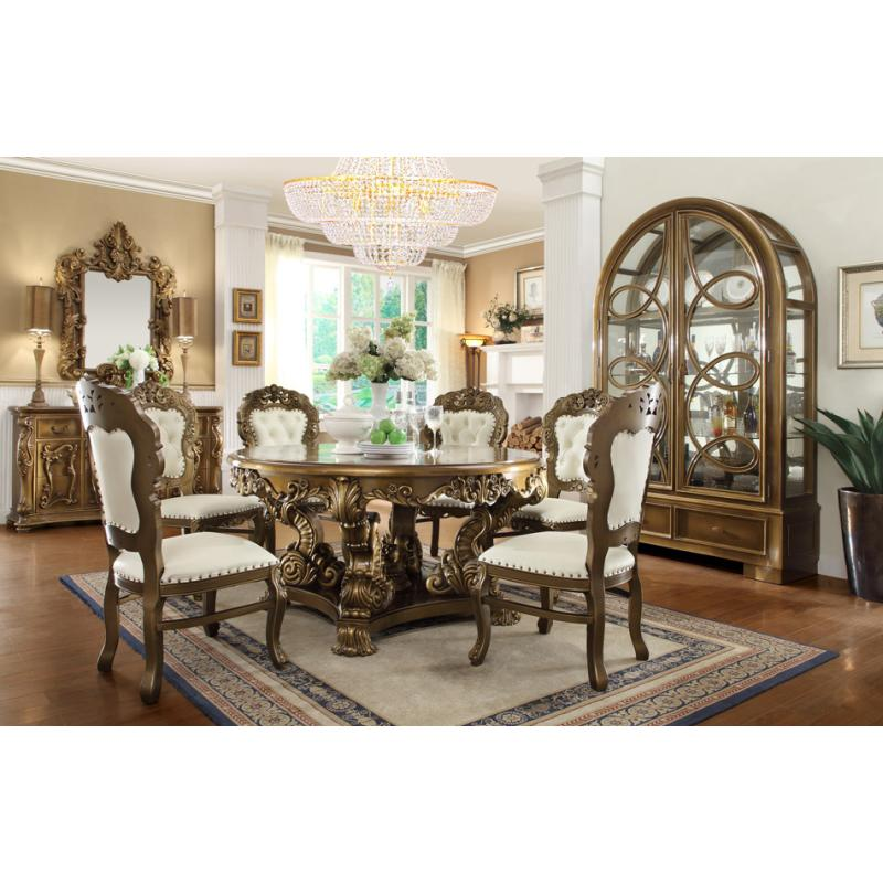 Displayed Beautiful Dining Table With Arm Chairs Side Mirror Console China Cabinet Curio And Entrance